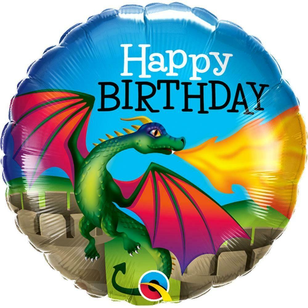 "18"" Mythical Dragon Happy Birthday Balloon"