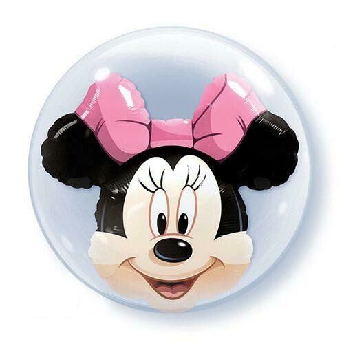 "24"" Disney Minnie Mouse Double Stuffed Double Bubble Balloon"