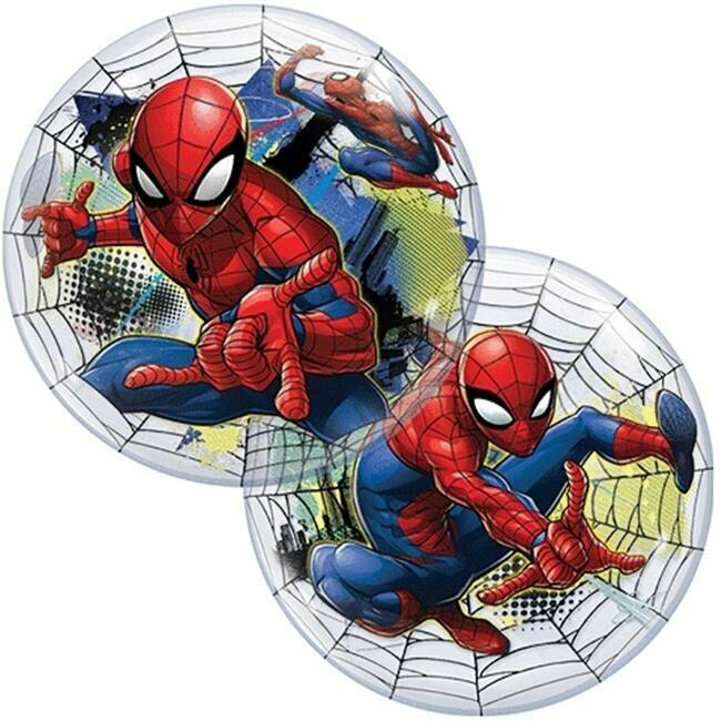 "22"" Marvel's Spiderman Web Slinger Bubble Balloon"