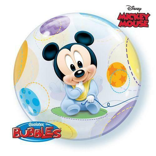 "22"" Disney Baby Mickey Mouse Bubble Balloon Orbz"