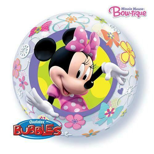 "22"" Disney Minnie Mouse Bow-Tique  Bubble Balloon"