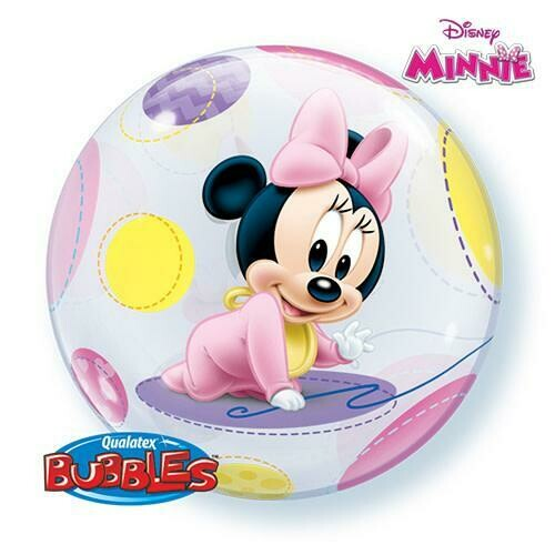 "22"" Disney Baby Minnie Mouse Bubble Balloon"