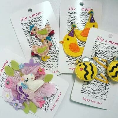 Lily & Momo Happy Together Hair Clip
