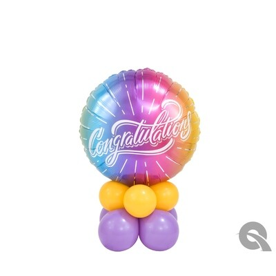 Congratulations Ombre Balloon Bouquet Designs