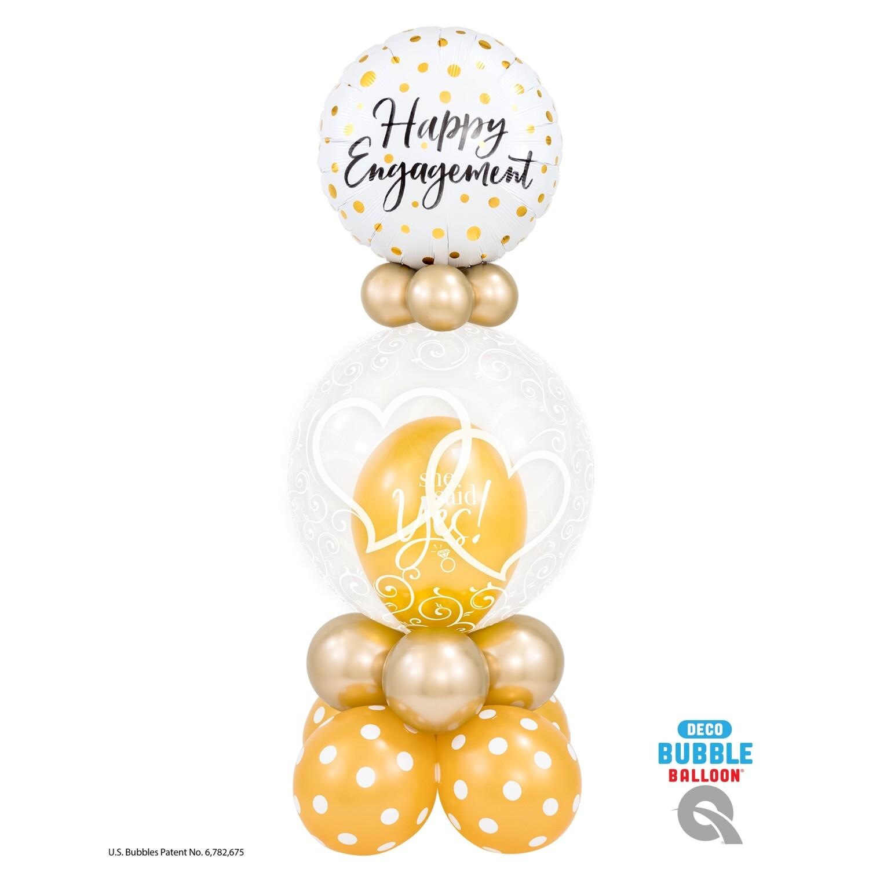 Happy Engagement Balloon Bouquet Designs