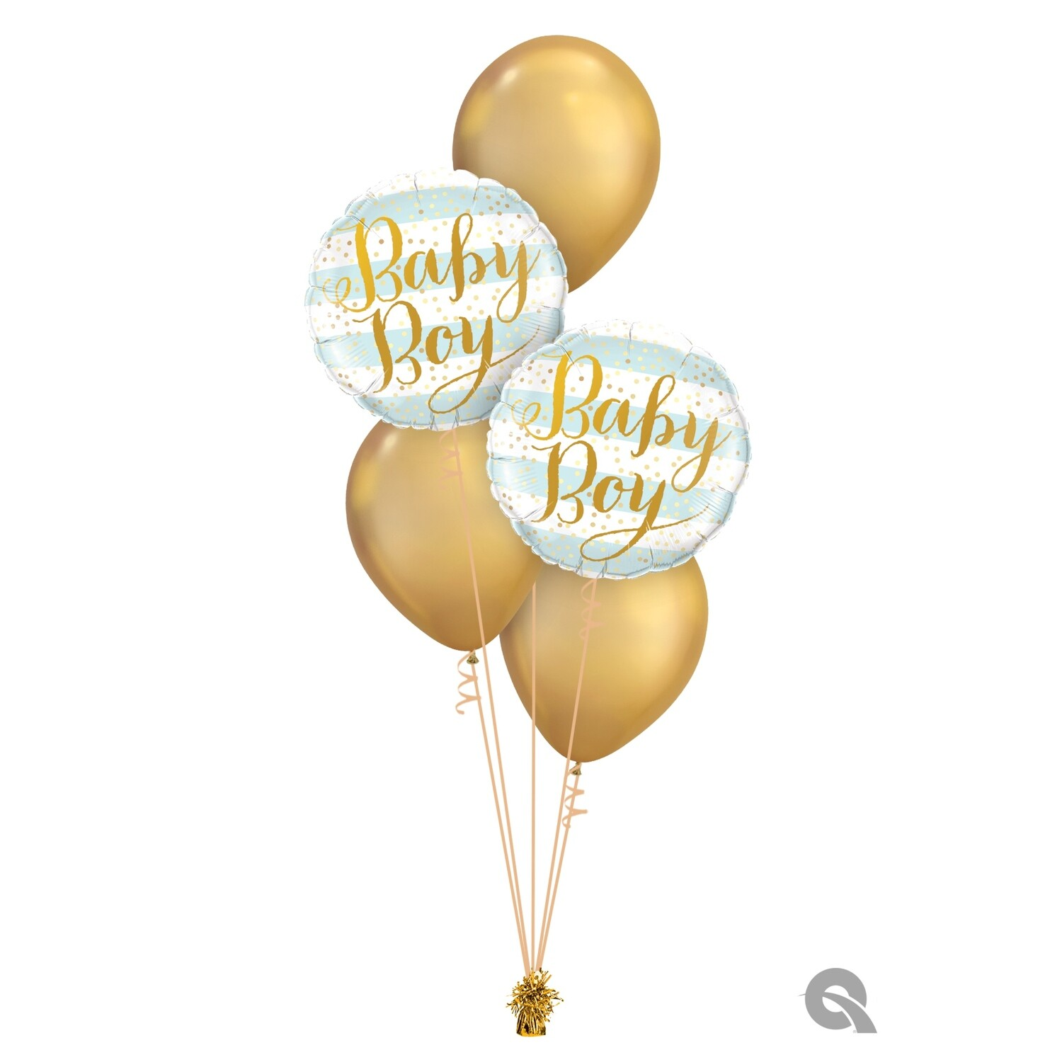 Baby Boy/Girl Stripes Balloon Bouquet Designs