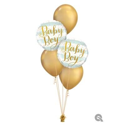 Baby Boy/Girl Stripes Balloon Bouquet Designs