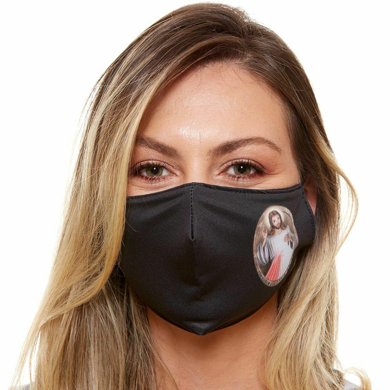 MDA6026-Divine Mercy of Jesus Adult Face Mask
