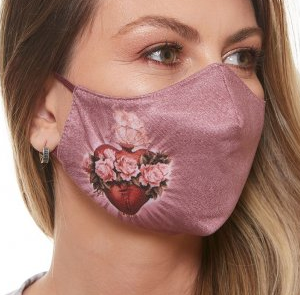 MDA6045 - Immaculate Heart of Mary Face Mask (Pink)