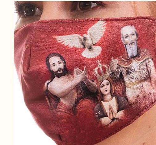 MDA030 - Holy Trinity and Mary Face Mask