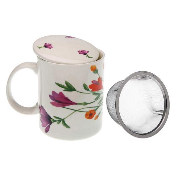 Cup with Tea Filter Florian Porcelain