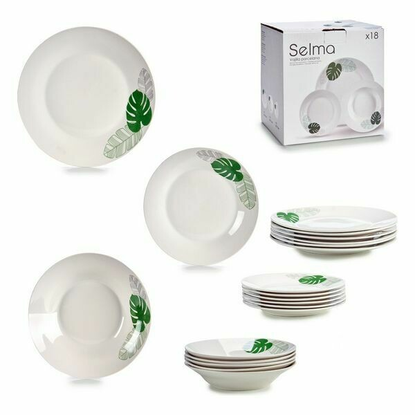 Tableware Porcelain (17 x 23 x 23 cm) 18 pcs