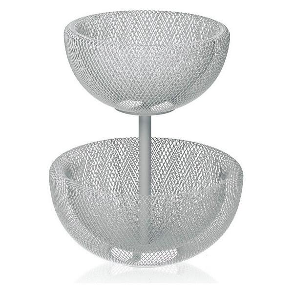 Fruit Bowl Metal (36 cm) 2 tier stand
