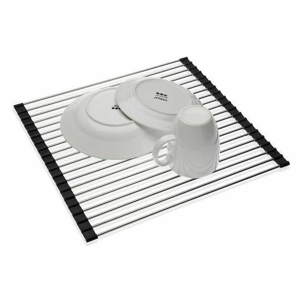 Draining Rack for Kitchen Sink Eloy Silicone Aluminium (32 x 8 x 44 cm)