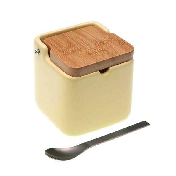 Sugar Bowl Ceramic Beige