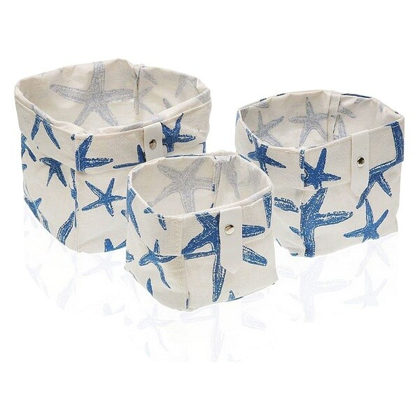 Basket set Textile Polyester (3 Pieces) (14 x 14 x 14 cm)
