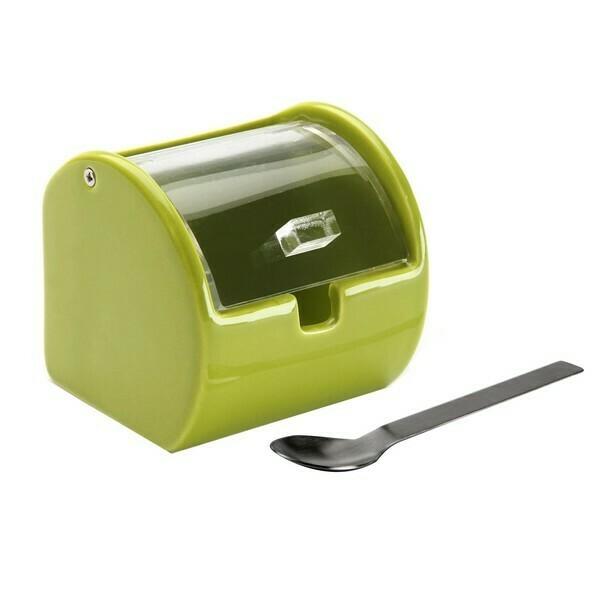Sugar Bowl Ceramic Green