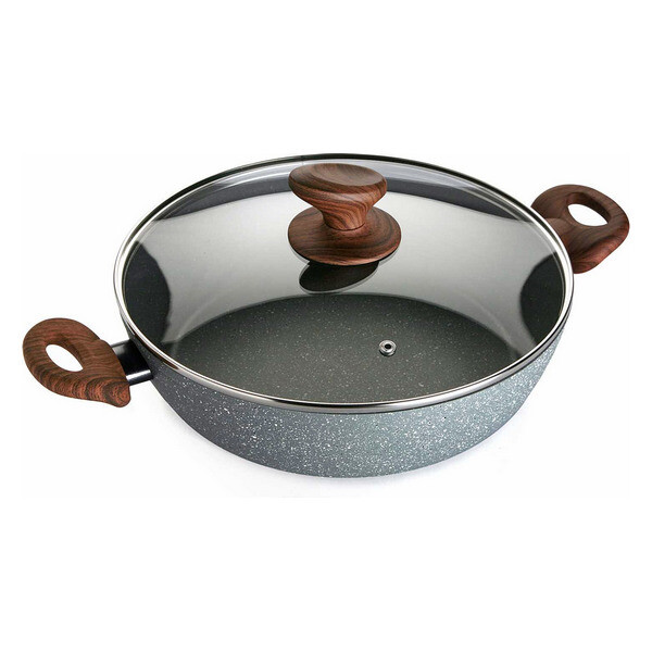 Casserole with lid Aluminium (28 x 7,5 x 28 cm)