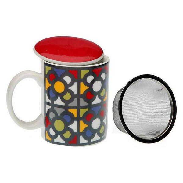 Cup with Tea Filter Urbana Porcelain