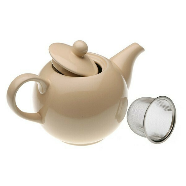 Teapot Stoneware (14 x 11,5 x 23,2 cm) Cream
