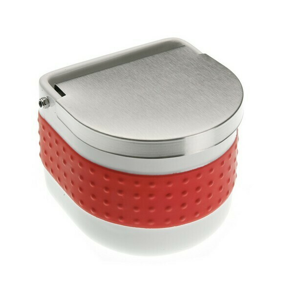 Salt Shaker with Lid Ceramic Red