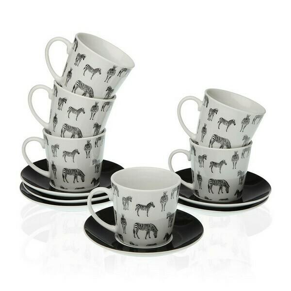 Piece Coffee Cup Set Porcelain (12 Pieces)