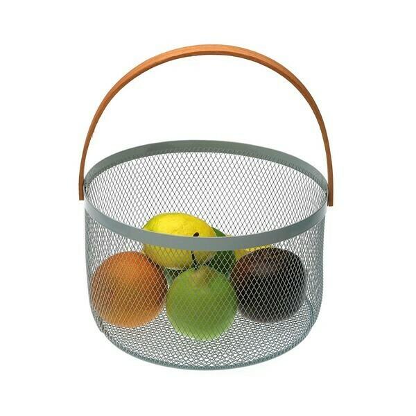 Fruit Bowl Aguamarina Metal (25 x 30 x 25 cm)