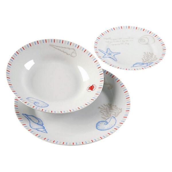 Dinnerware Set Seafom Porcelain (18 Pieces)