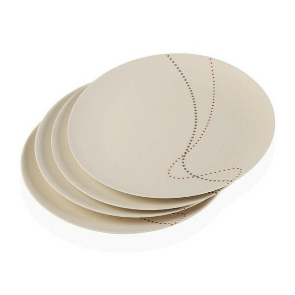 Dinnerware Set Kamira Bamboo Fibre (25 x 25 cm) (4 pcs)