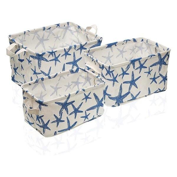 Basket set Textile Polyester (3 Pieces) (25 x 22 x 35 cm)