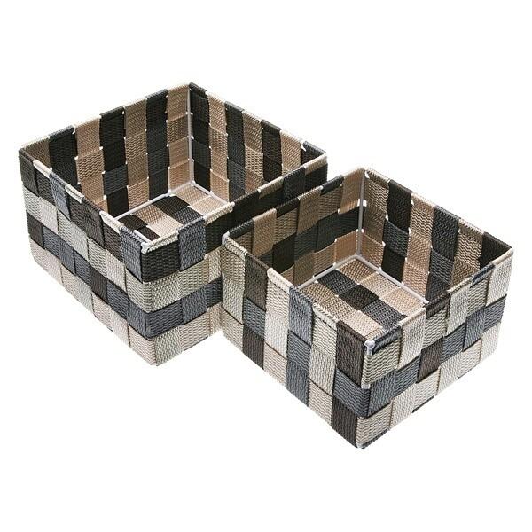 Set of Stackable Organising Boxes polypropylene (2 Pieces)