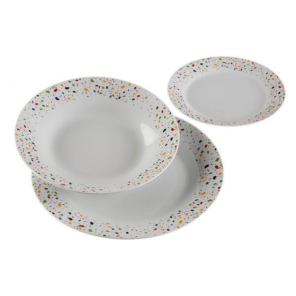 Dinnerware Set Vivid Terraz Porcelain (18 Pieces)