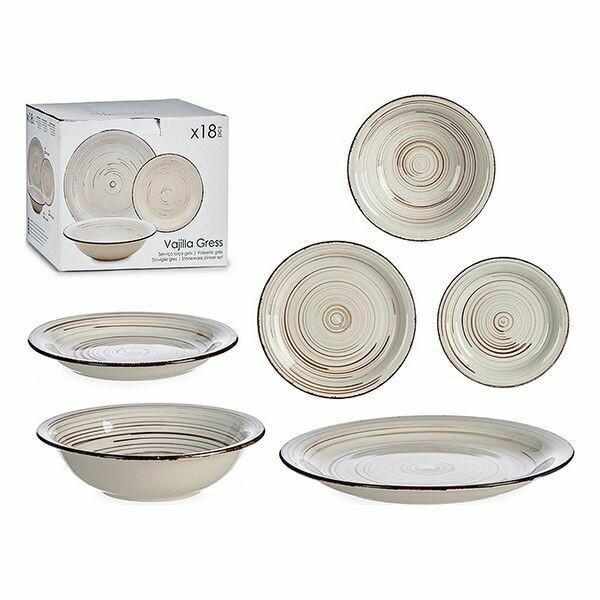 Tableware Cream Stoneware (18 pcs)
