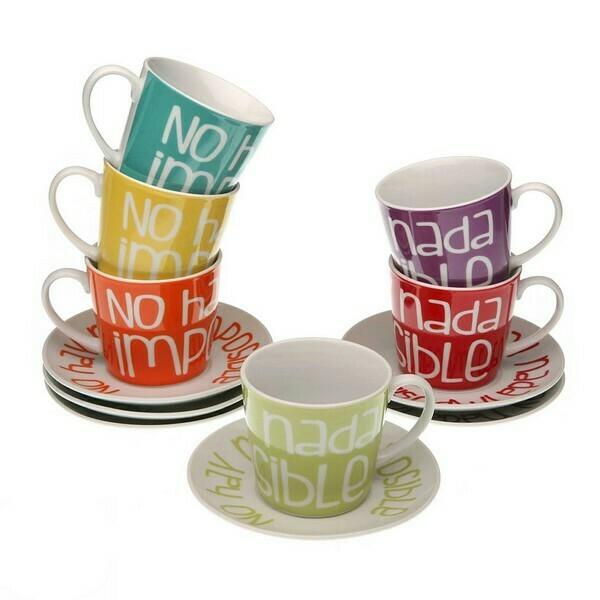 Piece Coffee Cup Set Porcelain (6 Pieces)