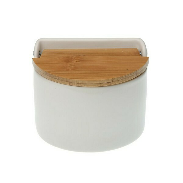 Salt Shaker with Lid Ceramic Bamboo