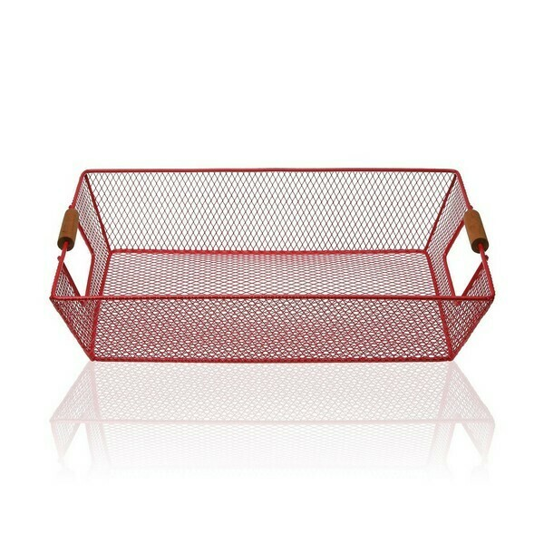 Basket Metal (25 x 8 x 35 cm) Red