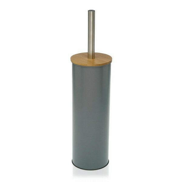 Toilet Brush Metal Grey
