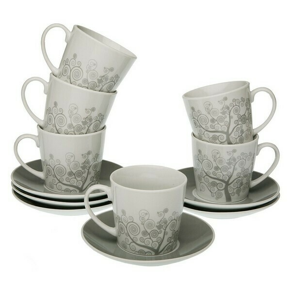 Piece Coffee Cup Set Revery Porcelain (6 Pieces)