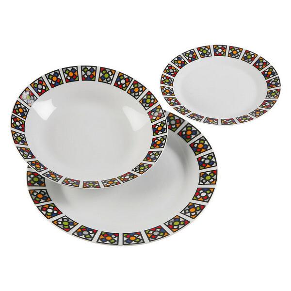 Dinnerware Set Urbana Porcelain (18 Pieces)