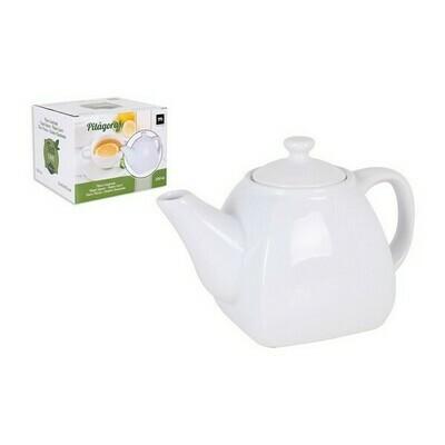 Teapot La Mediterránea Pitágoras Porcelain White
