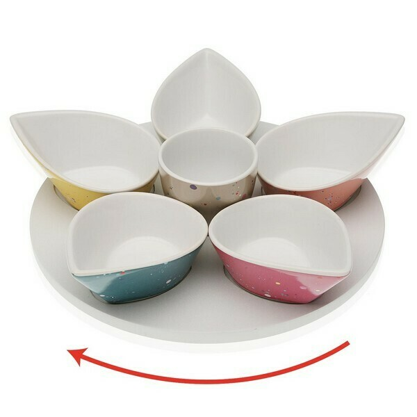 Appetizer Set Kayden Porcelain MDF Wood (6 uds)