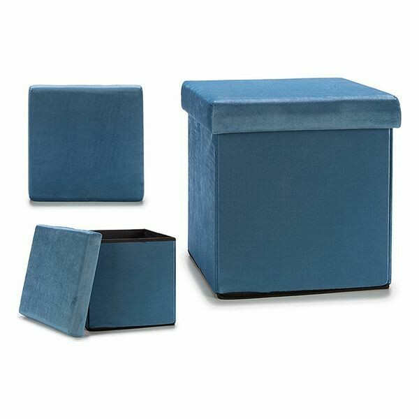Multi-purpose basket Blue Velvet (31 x 31 x 31 cm)