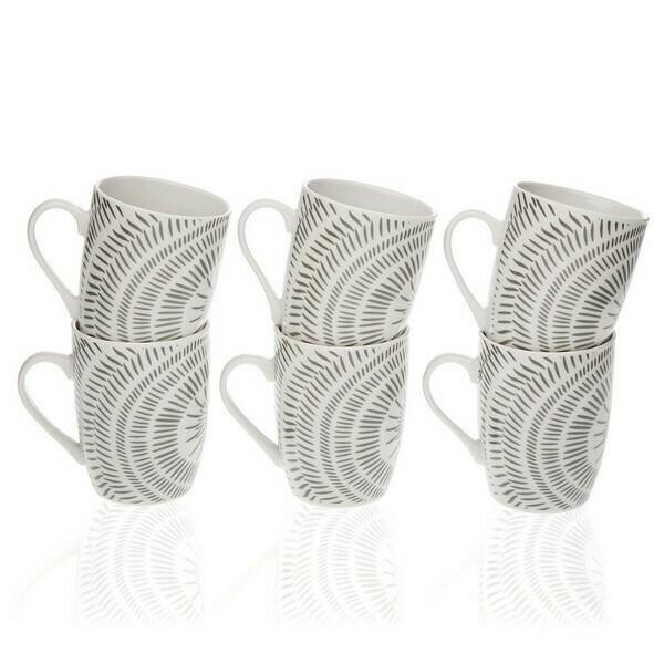 Set of Mugs Neera Porcelain (6 Pieces)
