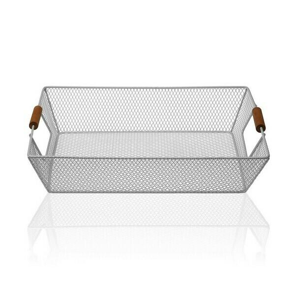 Basket Metal (25 x 8 x 35 cm) Grey