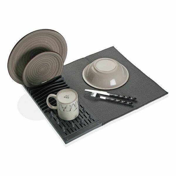 Draining Rack for Kitchen Sink Microfibre polypropylene (4 x 16 x 40 cm)