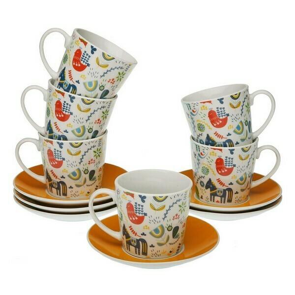 Piece Coffee Cup Set Manaia Porcelain (6 Pieces)