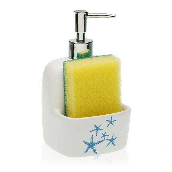 Soap Dispenser Blue Sea Ceramic