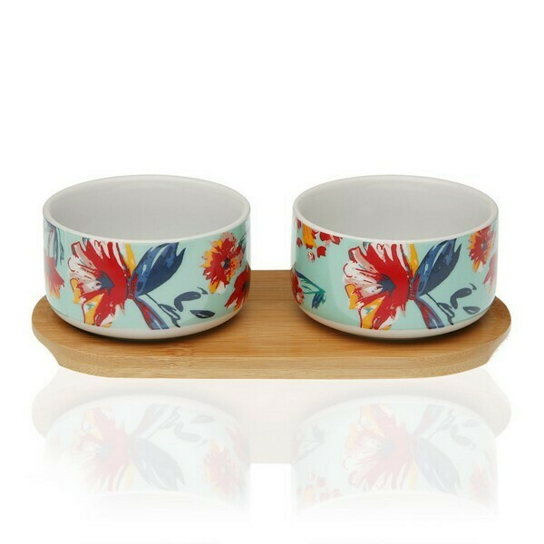 Appetizer Set Paradise Bamboo Porcelain (2 Pieces)
