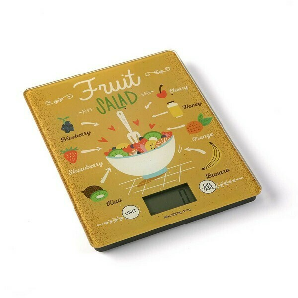kitchen scale FRUIT SALAD Tempered Glass