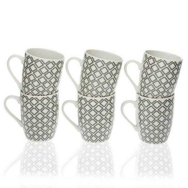 Set of Mugs Porcelain (6 Pieces)